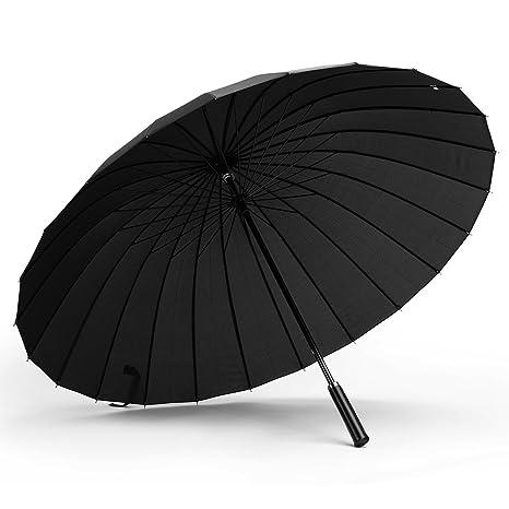 Paraguas de Gran tamaño a Prueba de Viento al Aire Libre 24 de Hueso