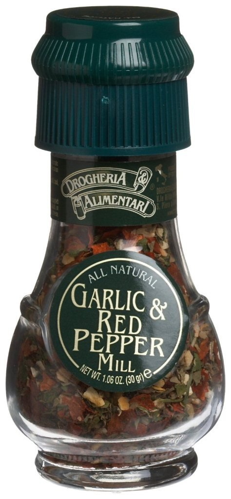 Drogheria & Alimentari All Natural Spice Grinder Garlic and Red Pepper, 1.06 Ounce (Pack of 6)