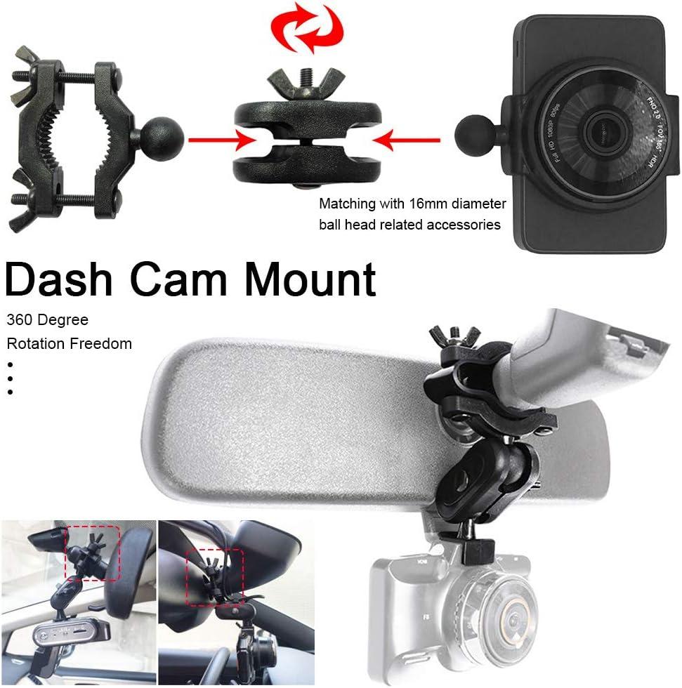 LVOERTUIG Dash Cam Mount,Universal Dash Camera Rear View Mirror Mount Holder Kit Car Interior Holder Universal Rearview Mirror Dash Cam Mount Auto Driving Stable