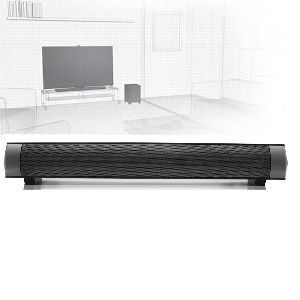 ELlight Bluetooth Small Sound Bar 2.0 Channel 15.7in 10W(2X5W) Wireless Stereo Speaker,Black by ELlight