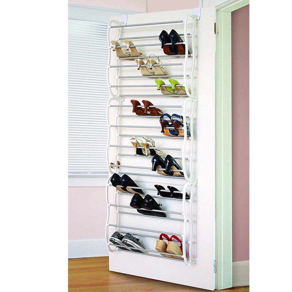 ( US Stock ) lantusi 12 Layersフィット36ペアホームHangingをドアのシューズラック、多機能Hanging Shoeストレージラックwithフックfor省スペース、ホワイト靴クローゼットオーガナイザー B074M4Z4FX