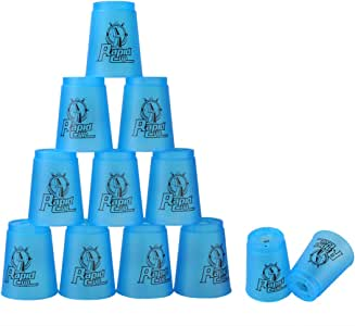 Quick Stacks Cups, 12 PC of Sports Stacking Cups Speed Training Game(Blue)