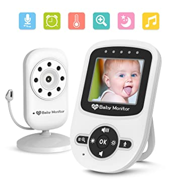 LCD Display Infrared Two Babysense Video Baby Monitor with Two Digital Cameras
