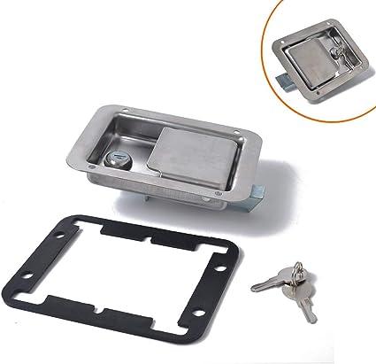 MADONG - Cerradura de acero inoxidable para remolque, caja de herramientas, cerradura de puerta de coche: Amazon.es: Coche y moto