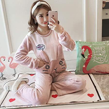 JYLW Pijamas Invierno Mujer Extra Gruesa Animal Grueso ...