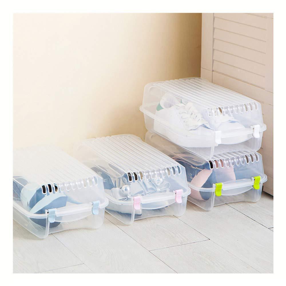 Storage Tools, Home Storage, Portable Travel Storage Shoe Box, ♚Rendodon♚ Clear Plastic Mens Shoes Stackable Shoe Box Travel Storage Container Organiser (Clear)
