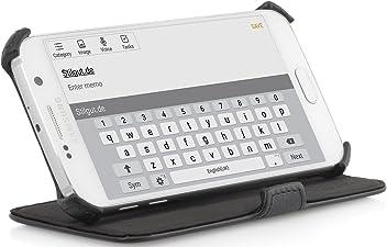 StilGut UltraSlim Case V2, Custodia con Funzione di Supporto per Samsung Galaxy S6, Nero