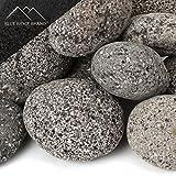 Blue Ridge Brand™ Lava Rock - 50-Pound Tumbled Lava Stones for Fire Pit - 3'' Black/Gray Lava Pebbles - Fire Glass Substitute - Landscaping Rocks