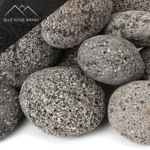 - Blue Ridge Brand™ Lava Rock - 50-Pound Tumbled Lava Stones for Fire Pit - 3