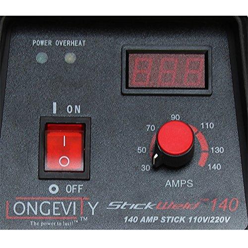 LONGEVITY 721405557523 Stickweld 140 140-AMP Dual Voltage Protable Stick Welder by Longevity (Image #3)
