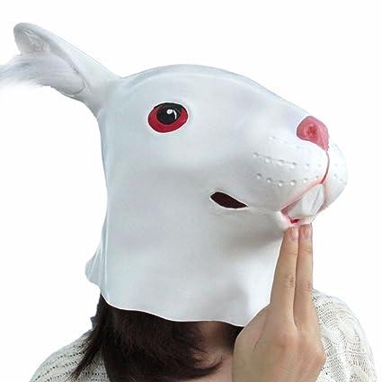 akimgo (TM) Full Face máscara de fiesta de Halloween cosplay animal máscara de látex