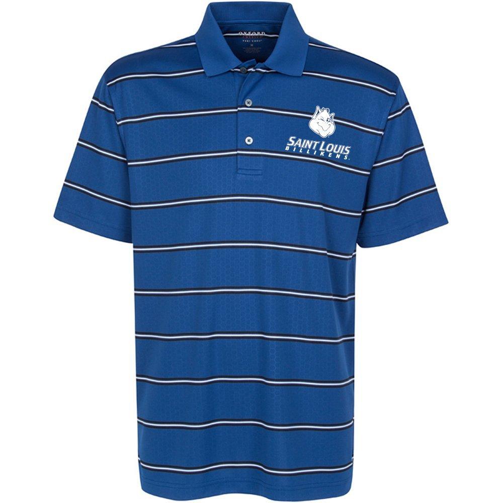 Oxford NCAA Mens Men's Evans Embossed Stripe Polo