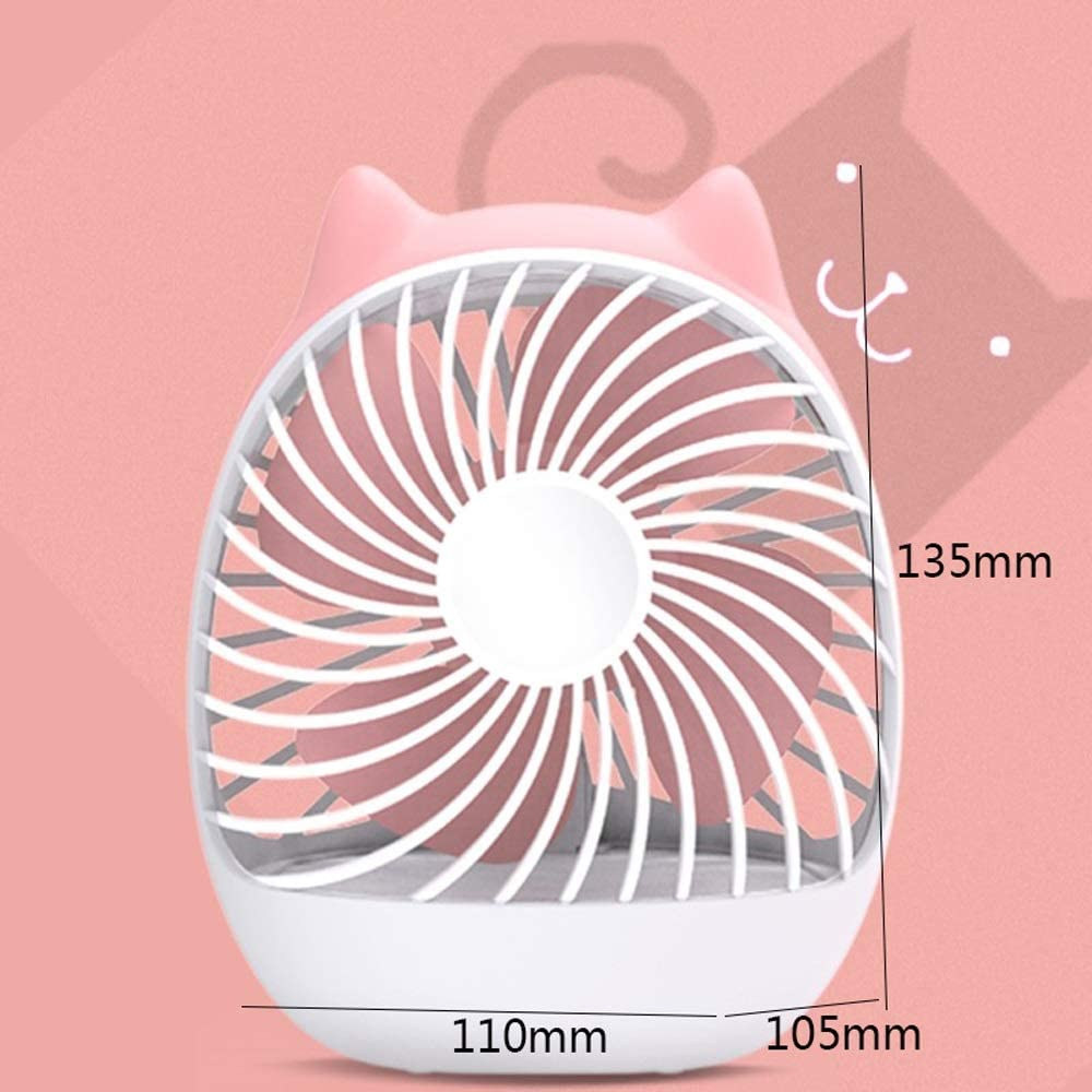 Fuudear Portable Small USB Fan Clip-Type Rechargeable Dormitory Student Portable Mini Ultra-Quiet Large Wind Bed Desktop Home Bedroom Office Plug Battery Cute Cartoon Handheld Desktop