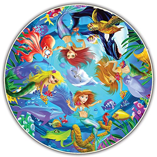 A Broader View Round Table Puzzle - Kids Edition - Mermaids (50 Piece)