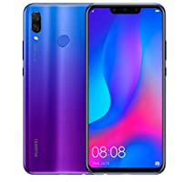 "Huawei Nova 3 PAR-LX9 Pantalla 6.3"" Camara Dual 24 Mpx + 16 Mpx, 128 GB ROM + 4GB Ram - Desbloqueado (Morado)"