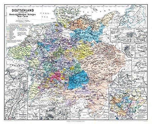 Historische Karte: DEUTSCHLAND zur Zeit des Dreissigjährigen Krieges. Dreißigjähriger Krieg 1618-1648 (Plano) Landkarte – 21. November 2012 Bruno Hassenstein Rockstuhl Verlag 3867774889 Sachbuch