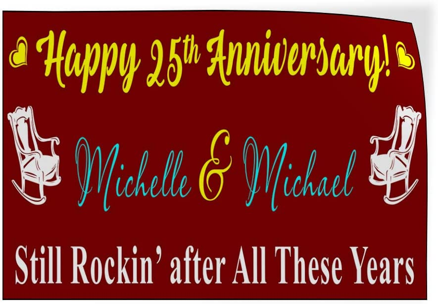 Still Rockin Lifestyle Happy Anniversary Outdoor Luggage /& Bumper Stickers for Cars Brown 27X18Inches Set of 10 Custom Door Decals Vinyl Stickers Multiple Sizes Happy Anniversary
