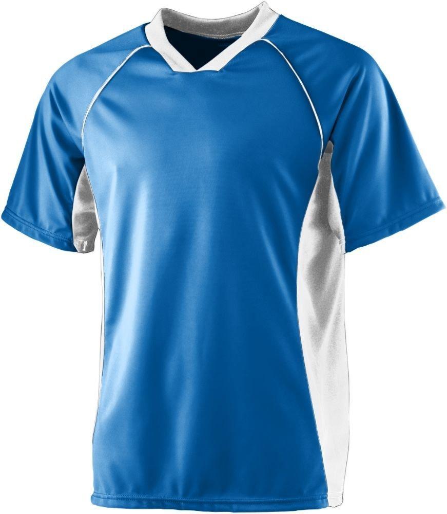 Augusta SportswearメンズWickingサッカーシャツ B008KCVA1I Large ロイヤル/ホワイト ロイヤル/ホワイト Large