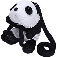 Bebamour 3D Panda Kids Backpack with Harness Leash Breathable Bag for Boy Girl