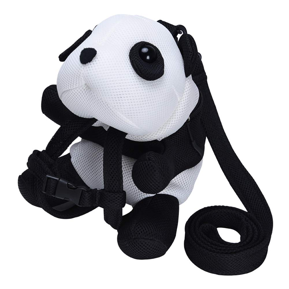 Bebamour Kids Small Toddler Panda Backpack with Harness Leash Breathable Bag for Boy Girl