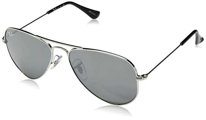 Ray-Ban Rj9506S, Gafas de Sol Unisex-niños, Shiny Silver, 52