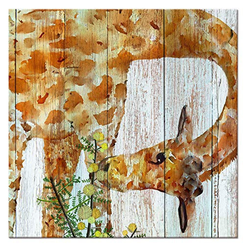 Animal Canvas Wall Art Abstract Giraffe Watercolor Painting Prints Home Wall Decorate Modern Prints for Living Room Bedroom ()