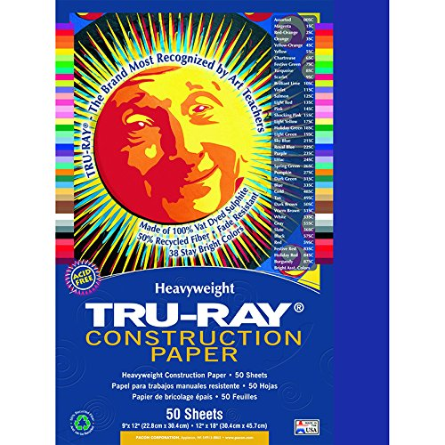 PACON CORPORATION TRU RAY 9 X 12 DARK BLUE 50 SHT (Set of 24)