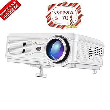 Lexsong Proyector de video HD 1920 × 1080P y 300 pulgadas pantalla ...