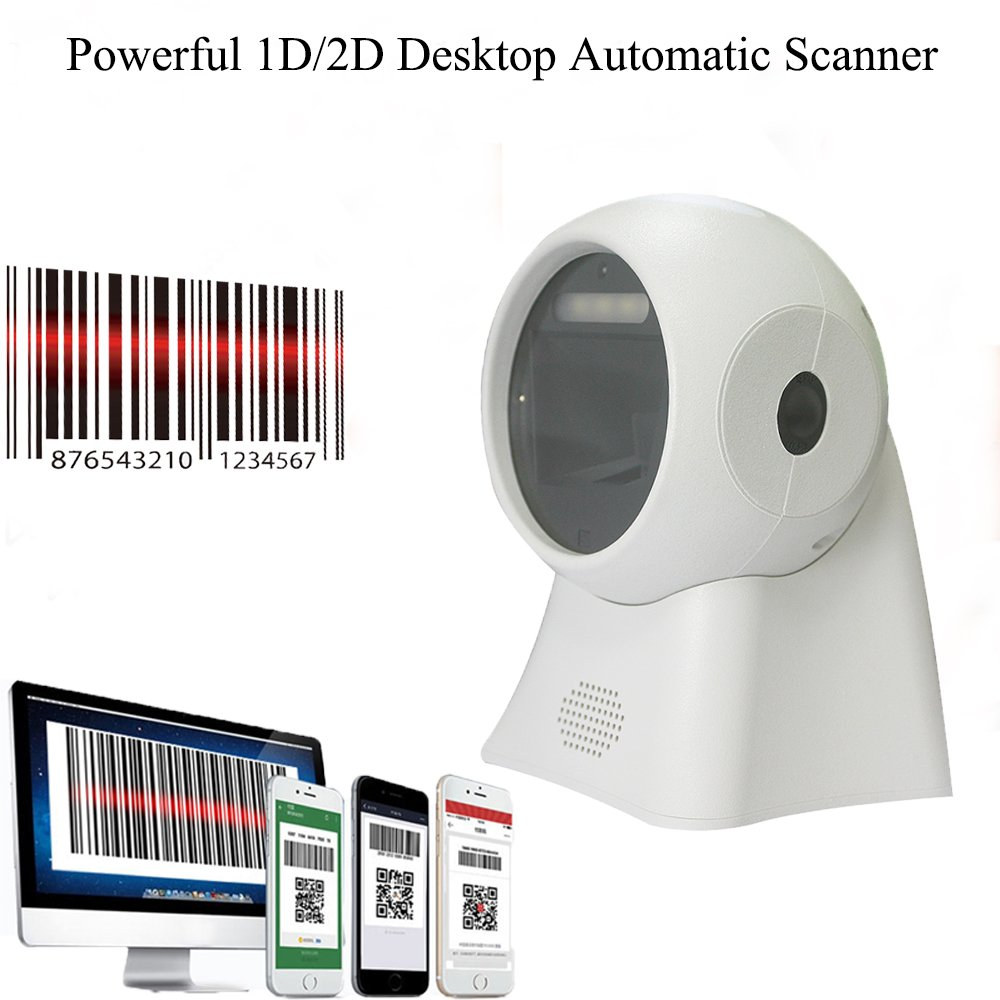 BQ-204 Omnidirectional High Sensitive 1D Barcode 2D QR PDF417 Data Matrix Code Fast Scanning USB Directly Use In Supermarket Retails Stores (BQ-103)