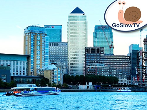 Slow TV: Canary Wharf Over The River Thames (South Wharf)