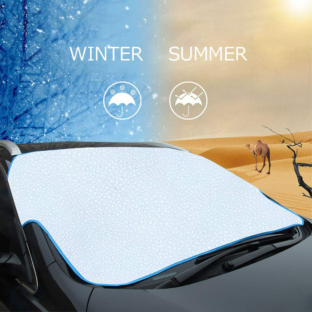Car Frost Protector Car Sunshade Summer Keep Cool Sun Shade for Car//Truck//SUV AOOTOOSPORT Windshield Snow Cover Windshield Sunshade Cover 74.8x 37.4 Weatherproof Mirror Covers Included