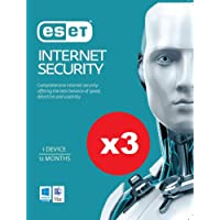 3 X Pack of ESET Internet Security OEM 1 Device 1 Year Download KEY ONLY