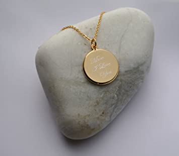 Amazon personalized gold circle necklace pendant engraved free personalized gold circle necklace pendant engraved free aloadofball Choice Image
