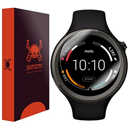 motorola 360 sport. motorola moto 360 sport screen protector, skinomi techskin (6-pack) full coverage