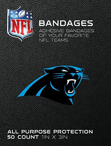NFL Officially Licensed Bandages, 1x3, 50/box (Carolina Panthers)