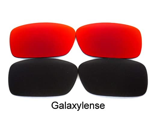03a0aa01f6a Galaxy Replacement Lenses For Oakley Crankcase Polarized Black Red 2Pair -  clear