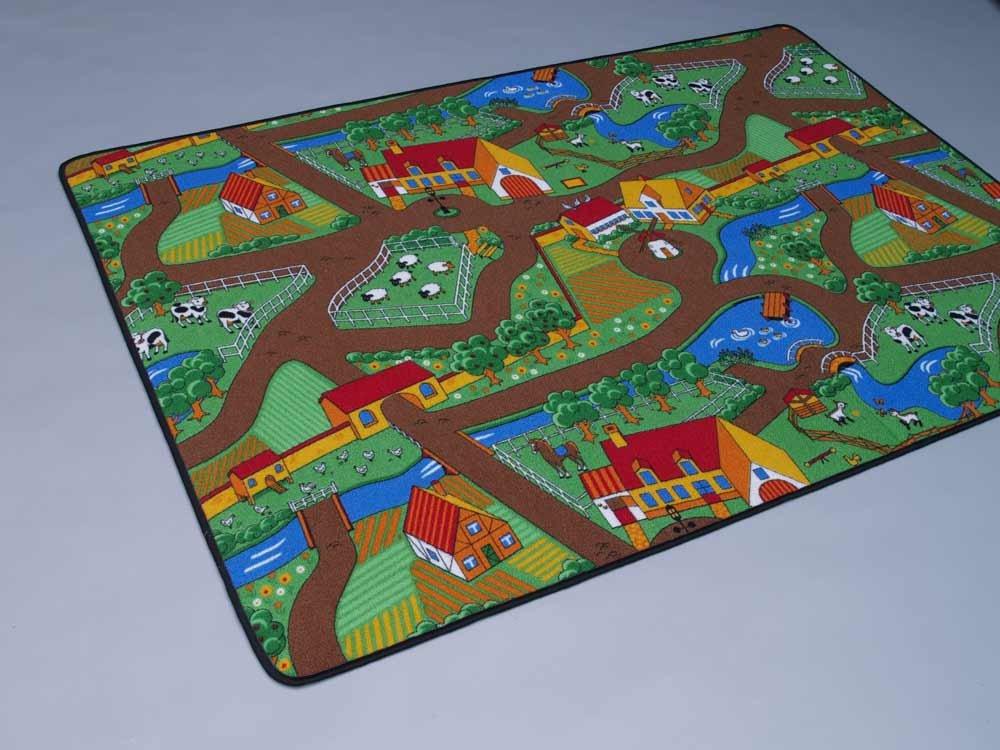 Duo Play HEVO® Teppich   Kinderteppich   Spielteppich Wendeteppich 200x200 cm