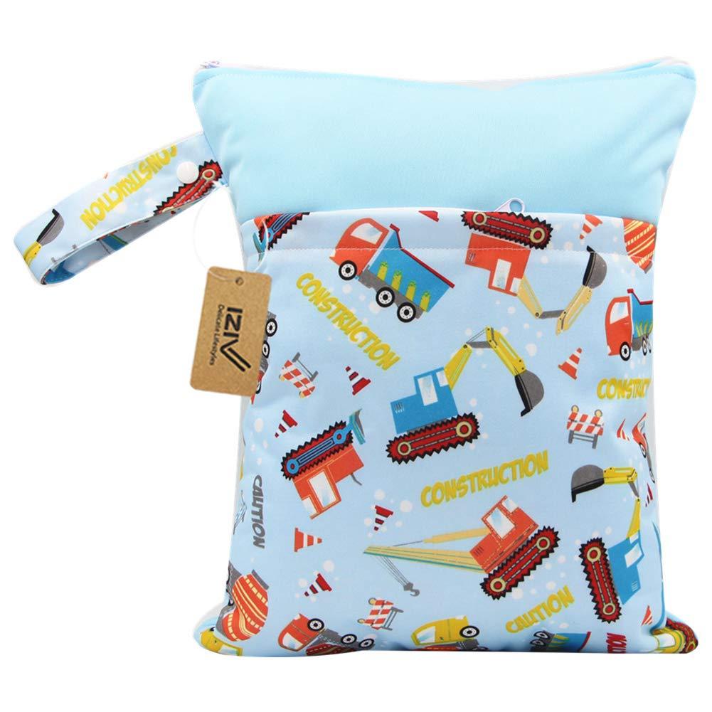 iZiv Baby Wasserdichte Wiederverwendbare Wet Dry Bag Neoprenanzug-Tasche Wasserdichte Waschbare H/ängende Gro/ße Wickeltasche Organizer Pouch Double Zipper Printing Wickeltasche Wickeltasche