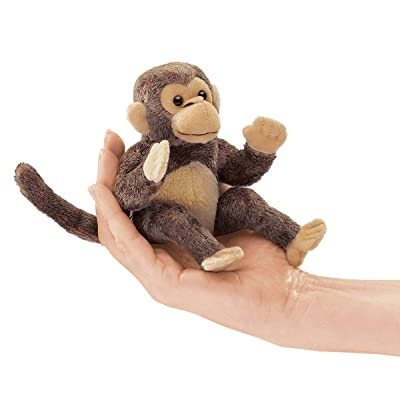 Folkmanis Mini Monkey Finger Puppet: Toys & Games