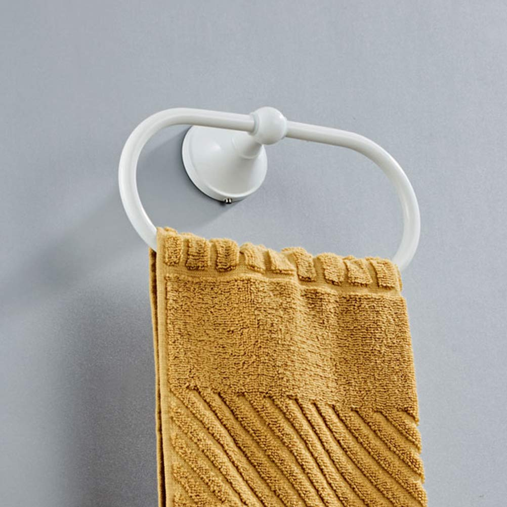 Burlap rope Hand Towel Ring Holder Bath// Kitchen New with hardware.
