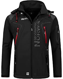 Geographical Norway Herren Softshell Funktions Outdoor Jacke wasserabweisend f48f77178e