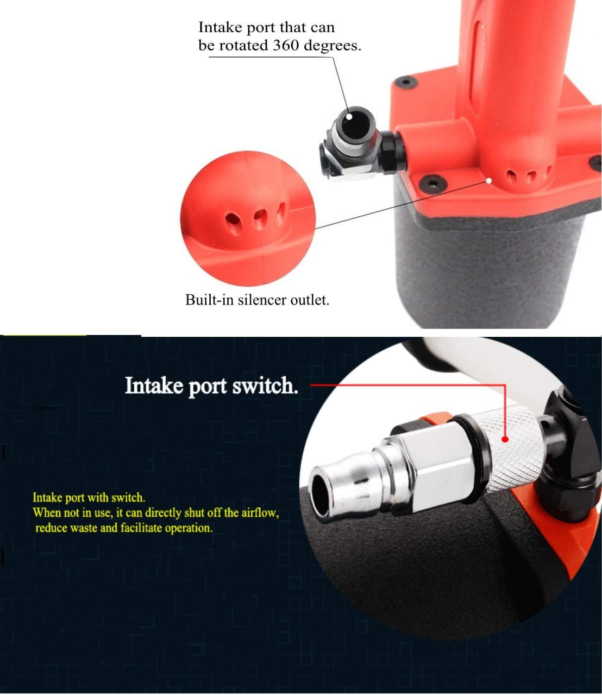 Heavy Duty Air/Hydraulic Rivet Gun professional Riveting tool 1/4'' air power tool Self Suction style and no Self Suction style (Self Suction style) by Shiningeyes (Image #5)