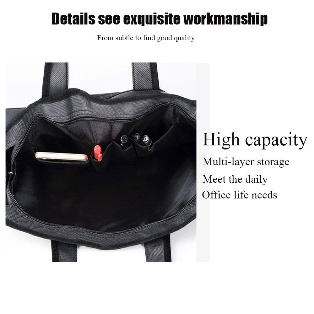 Oxford waterproof thickening business briefcase men and women handbags file bag office information package business package double storage bag file package fashion office information bag office briefc
