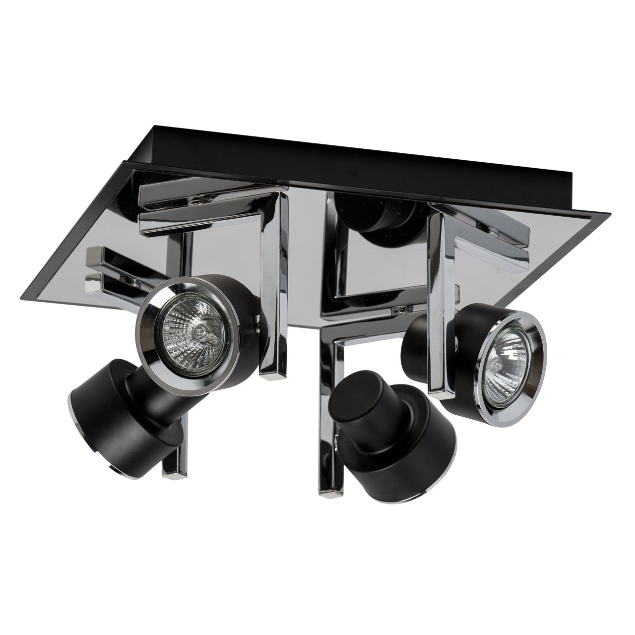 MW-Light Arno Wall Spotlight Black Coffee Chrome Metal Colour in Retro Futuristic Style for Living Room, Bedroom or Hallway, 1 Bulb-incl, GU10 1 * 50W 230V