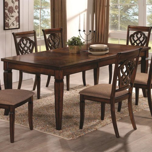 Coaster Home Furnishings Transitional Dining Table, Oak (Oak Dining Table And 6 Chairs)