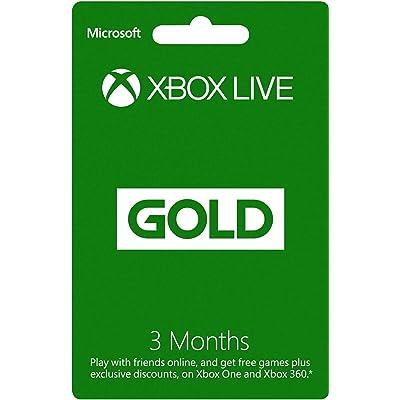 Xbox Live Gold 3 Month Membership Card (Xbox One/360) [Importación Inglesa]