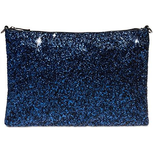 Caspar ta341Mujer Grande Embrague Azul