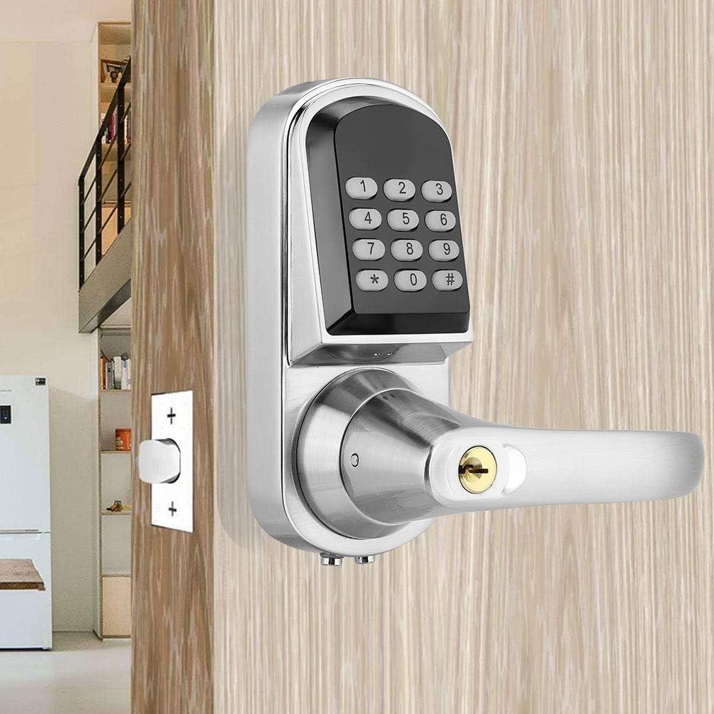 control de acceso con 5 tarjetas RFID Cerradura de puerta electr/ónica con huellas dactilares cerradura de puerta para la seguridad en casa llave y contrase/ña