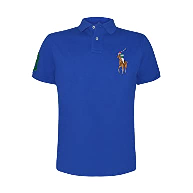 796575c9 Polo Ralph Lauren Men's Custom Slim Fit Colored Big Pony Polo (Large ...