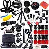 Action Camera Accessories Kit for GoPro Hero 7 6 5 4 3+ 3 2 1 Hero Session 5 Black Accessory Bundle Set for Yi AKASO Apeman SJ4000 DBPOWER AKASO WiMiUS Rollei QUMOX Campark Action Camera Accessory